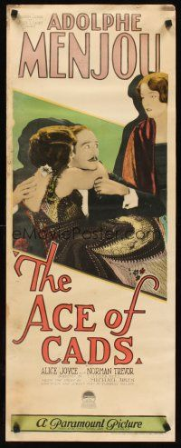 6a002 ACE OF CADS insert '26 Adolphe Menjou is caught in the arms of one woman by another!