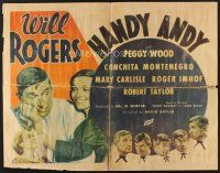 6a010 HANDY ANDY 1/2sh '34 Will Rogers is a small town druggist whose wife wants better!