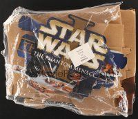 6a058 PHANTOM MENACE video standee '99 Star Wars Episode I, ultra-cool video display!