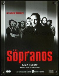 6a062 SOPRANOS book tie-in standee '99 James Gandolfini, Lorraine Bracco, mafia TV series!
