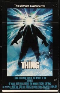 6a066 THING standee '82 John Carpenter, cool sci-fi horror art, the ultimate in alien terror!