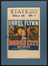 6a013 DODGE CITY WC '39 Errol Flynn, Olivia De Havilland, Michael Curtiz cowboy classic!