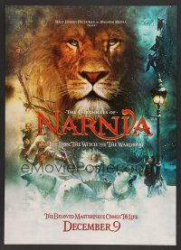 6a071 CHRONICLES OF NARNIA teaser jumbo WC '05 C.S. Lewis novel, Georgie Henley & Tilda Swinton!