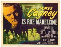 6b003 13 RUE MADELEINE TC '46 James Cagney must stop double agent Richard Conte, Annabella!