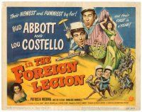 6b005 ABBOTT & COSTELLO IN THE FOREIGN LEGION TC '50 Bud & Lou w/ sexy harem girl Patricia Medina!
