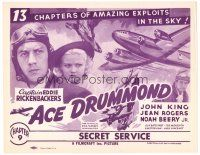6b009 ACE DRUMMOND chapter 9 TC R40s Captain Eddie Rickenbacker amazing exploits in the sky, serial