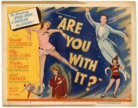 6b025 ARE YOU WITH IT TC '48 leaping Donald O'Connor, sexy Olga San Juan & Lew Parker!