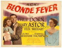 6b052 BLONDE FEVER TC '44 Philip Dorn, Gloria Grahame in her first film is gorgeous & dangerous!