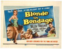 6b053 BLONDE IN BONDAGE TC '57 sexy Swedish bad girl, her body screamed for the things she hated!