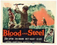 6b055 BLOOD & STEEL TC '59 4 fighting men & a girl trapped in 1,000 miles of green hell!