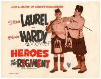 6b057 BONNIE SCOTLAND TC R40s Stan Laurel & Oliver Hardy wearing kilts, Heroes of the Regiment!