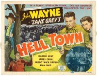 6b060 BORN TO THE WEST TC R50 young John Wayne, from the novel by Zane Grey, Hell Town!