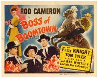 6b061 BOSS OF BOOMTOWN TC '44 Rod Cameron, Tom Tyler, Fuzzy Knight, Ray Whitley & band!