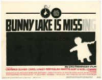6b071 BUNNY LAKE IS MISSING TC '65 directed by Otto Preminger, cool Saul Bass title art!
