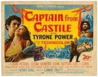 6b073 CAPTAIN FROM CASTILE TC '47 Tyrone Power, Jean Peters, Cesar Romero