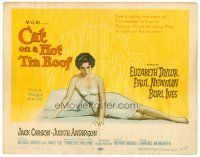 6b076 CAT ON A HOT TIN ROOF TC '58 classic artwork of Elizabeth Taylor as Maggie the Cat!