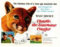6b077 CHARLIE THE LONESOME COUGAR TC '67 Walt Disney, art of the smiling teen-age mountain lion!
