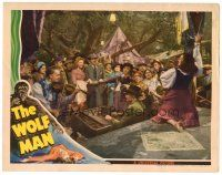 6b988 WOLF MAN LC '41 gypsy musicians & dancer entertain large crowd, cool border art!