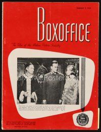 6d063 BOX OFFICE exhibitor magazine February 9, 1959 Anatomy of a Murder by Saul Bass art!