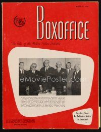 6d060 BOX OFFICE exhibitor magazine March 17, 1958 South Pacific, Horror of Dracula, bad girls!