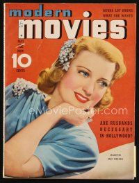 6d097 MODERN MOVIES magazine May 1939 smiling portrait beautiful of Jeanette MacDonald!