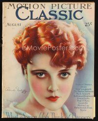 6d089 MOTION PICTURE CLASSIC magazine August 1927 art of redheaded Blanche Mehaffy by Don Reed!