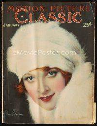 6d091 MOTION PICTURE CLASSIC magazine January 1928 art of Eleanor Boardman in fur by Don Reed!