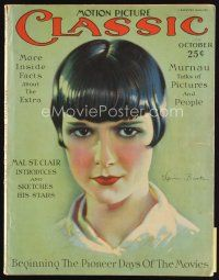 6d086 MOTION PICTURE CLASSIC magazine October 1926 wonderful art of Louise Brooks by Don Reed!