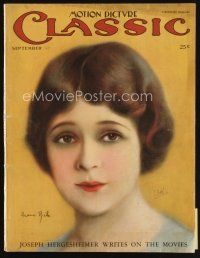 6d082 MOTION PICTURE CLASSIC magazine September 1925 artwork of pretty Irene Rich by Dahl!