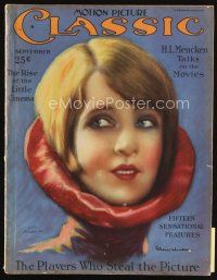 6d085 MOTION PICTURE CLASSIC magazine September 1926 art of pretty Claire Windsor by Leo Kober!