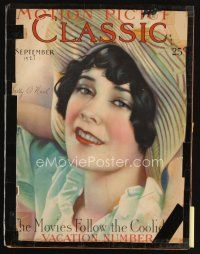 6d090 MOTION PICTURE CLASSIC magazine September 1927 art of pretty Sally O'Neil by Don Reed!