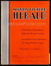 6d053 MOTION PICTURE HERALD exhibitor magazine February 25, 1956 Saul Bass Man with the Golden Arm!