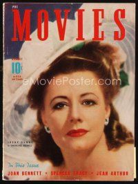 6d101 MODERN MOVIES magazine August 1941 portrait of pretty Irene Dunne in Unfinished Business!