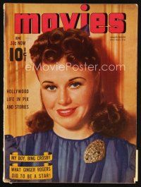 6d099 MODERN MOVIES magazine June 1940 what pretty Ginger Rogers did to become a star!