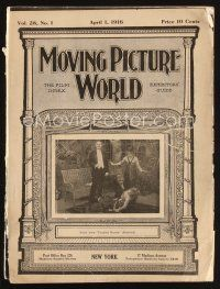 6d047 MOVING PICTURE WORLD exhibitor magazine April 1, 1916 Sherlock Holmes, Alice in Wonderland