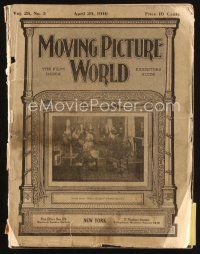 6d048 MOVING PICTURE WORLD exhibitor magazine April 29, 1916 Lionel Barrymore, Billie Burke