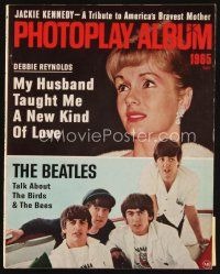 6d116 PHOTOPLAY magazine '65 Debbie, The Beatles talk about the birds & the bees, album issue!