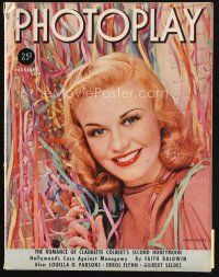 6d106 PHOTOPLAY magazine February 1938 portrait of beautiful Ginger Rogers by George Hurrell!