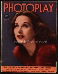 6d108 PHOTOPLAY magazine January 1939 portrait of beautiful Hedy Lamarr by George Hurrell!