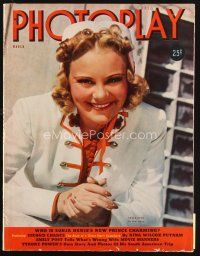 6d110 PHOTOPLAY magazine March 1939 portrait of pretty ice skater Sonja Henie by Paul Hesse!
