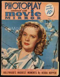 6d112 PHOTOPLAY magazine May 1941 portrait of pretty blonde Alice Faye by Paul Hesse!