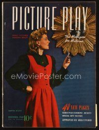6d075 PICTURE PLAY magazine December 1940 full-length portrait of Martha Scott by Paul D'Ome!