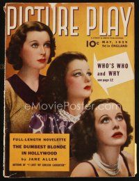 6d072 PICTURE PLAY magazine May 1939 Vivien Leigh, Hedy Lamarr & Joan Bennett all look alike!