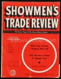 6d055 SHOWMEN'S TRADE REVIEW exhibitor magazine January 1, 1955 full-color 20,000 Leagues fold-out!