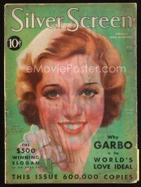 6d121 SILVER SCREEN magazine May 1931 art of pretty Loretta Young by John Rolston Clarke!