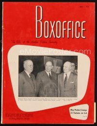 6h097 BOX OFFICE exhibitor magazine May 1, 1954 Creature from the Black Lagoon, Dial M For Murder!