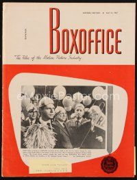 6h100 BOX OFFICE exhibitor magazine May 8, 1967 Clint Eastwood in For a Few Dollars More!