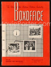 6h092 BOX OFFICE exhibitor magazine September 15, 1951 David & Bathsheba color fold-out, Streetcar