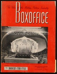 6h090 BOX OFFICE exhibitor magazine September 1, 1951 Day the Earth Stood Still, Streetcar!