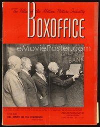 6h094 BOX OFFICE exhibitor magazine September 29, 1951 two great Day the Earth Stood Still ads!
